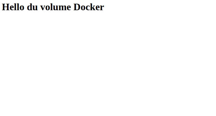Cette page est maintenant stockée dans un volume Docker